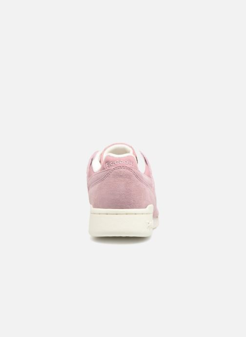 Trainers Reebok WORKOUT LO PLUS Pink view from the right