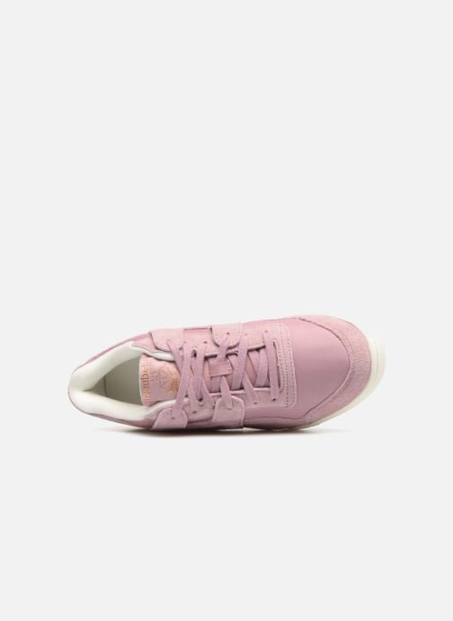 Trainers Reebok WORKOUT LO PLUS Pink view from the left