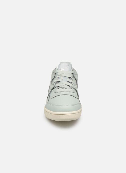 Baskets Reebok WORKOUT LO PLUS Bleu vue portées chaussures