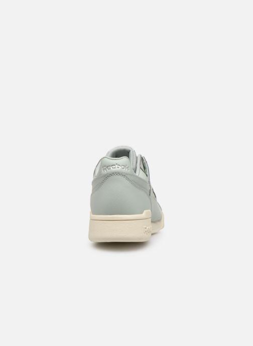 Sneaker Reebok WORKOUT LO PLUS blau ansicht von rechts
