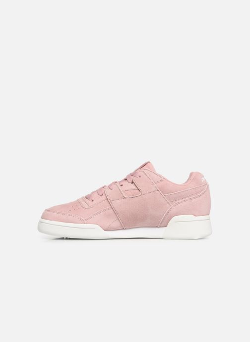 Baskets Reebok WORKOUT LO PLUS Rose vue face
