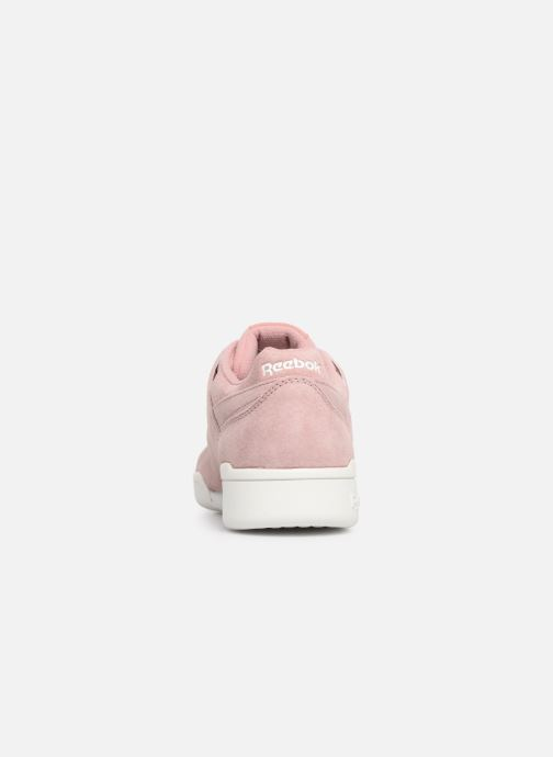 Baskets Reebok WORKOUT LO PLUS Rose vue droite