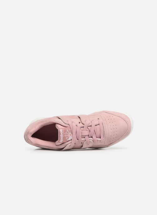 Sneaker Reebok WORKOUT LO PLUS rosa ansicht von links