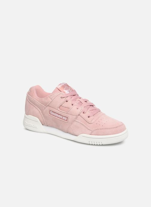 Baskets Reebok WORKOUT LO PLUS Rose vue détail/paire