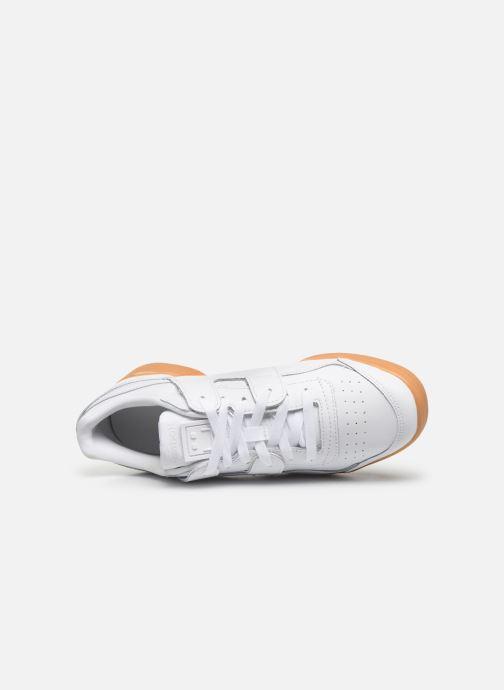 Sneaker Reebok WORKOUT LO PLUS weiß ansicht von links