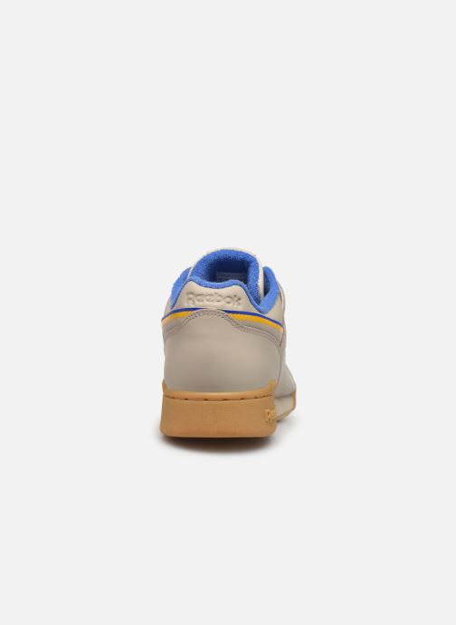Deportivas Reebok Workout Plus Mu Beige vista lateral derecha