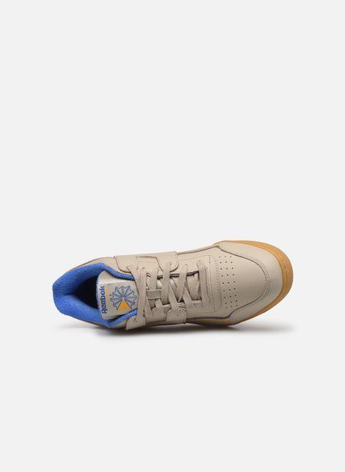 Sneaker Reebok Workout Plus Mu beige ansicht von links