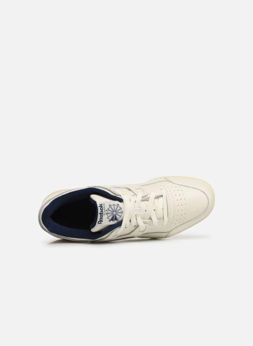 Sneaker Reebok Workout Plus Mu weiß ansicht von links