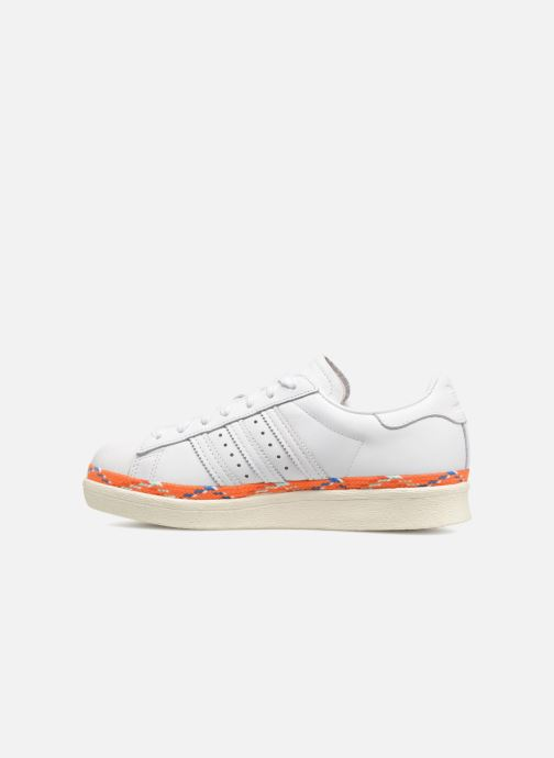 Trainers adidas originals Superstar 80s New Bold W White front view