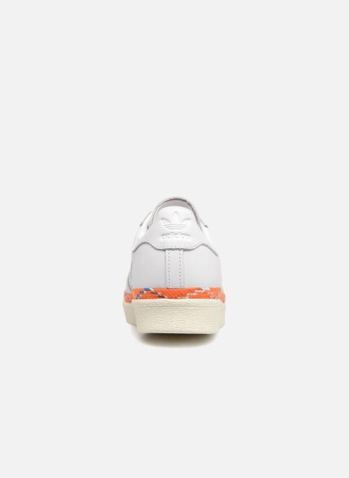 Baskets adidas originals Superstar 80s New Bold W Blanc vue droite