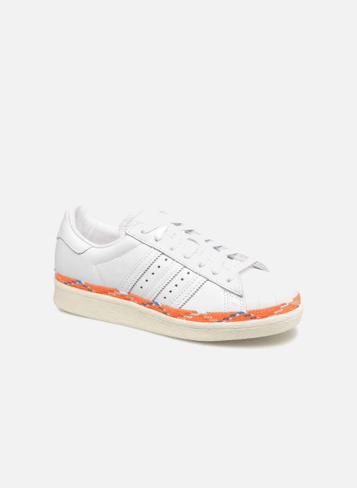 Baskets adidas originals Superstar 80s New Bold W Blanc vue détail/paire