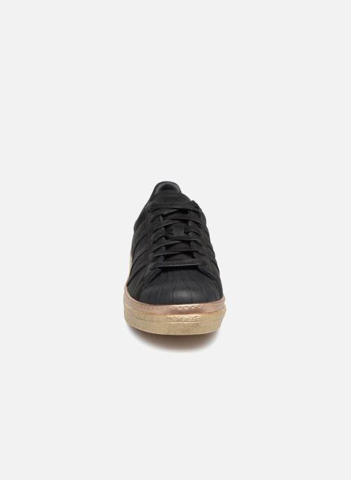 Sneakers Adidas Originals Superstar 80s New Bold W Nero modello indossato