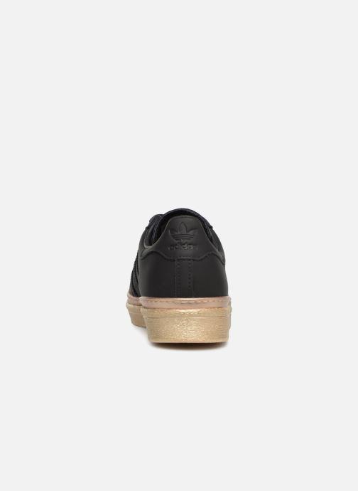 Deportivas adidas originals Superstar 80s New Bold W Negro vista lateral derecha