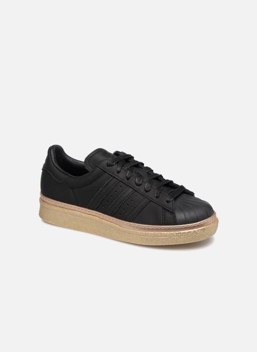 Baskets adidas originals Superstar 80s New Bold W Noir vue détail/paire