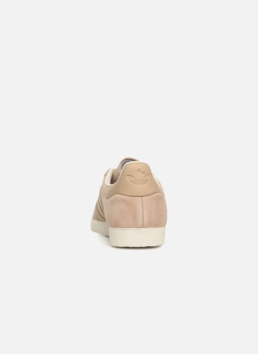 Baskets adidas originals Gazelle S&T Beige vue droite