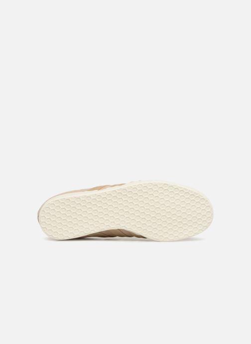 Baskets adidas originals Gazelle S&T Beige vue haut