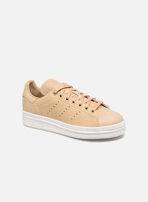 b7dd6c5589685 Baskets adidas originals Stan Smith New Bold W Beige vue détail paire