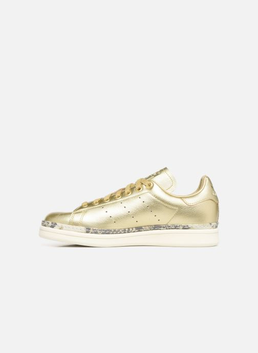 Baskets adidas originals Stan Smith New Bold W Or et bronze vue face