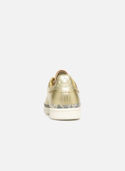 Baskets adidas originals Stan Smith New Bold W Or et bronze vue droite