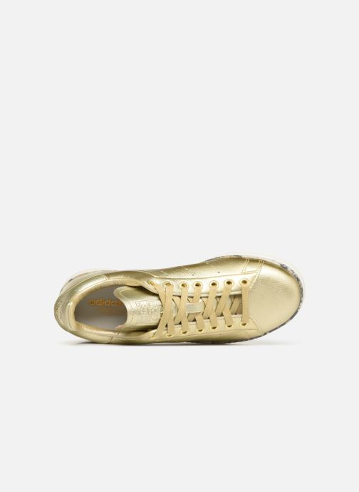 Baskets adidas originals Stan Smith New Bold W Or et bronze vue gauche