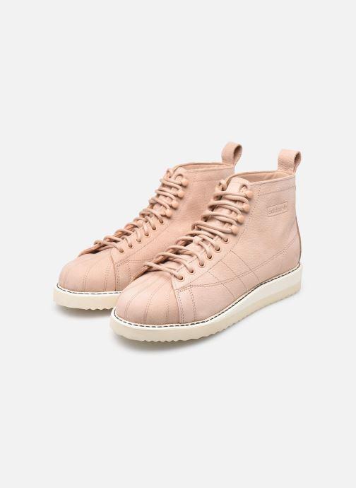 Baskets adidas originals Superstar Boot W Beige vue bas / vue portée sac