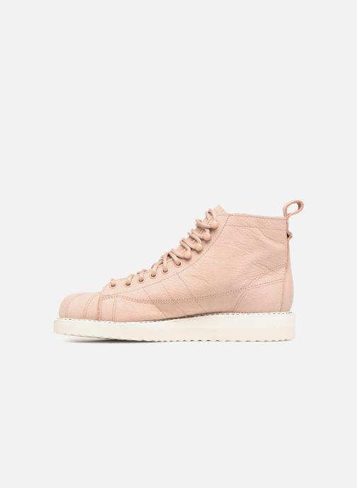 Baskets adidas originals Superstar Boot W Beige vue face