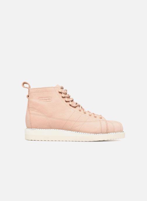 Baskets adidas originals Superstar Boot W Beige vue derrière