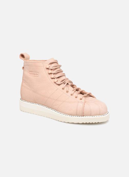 Baskets adidas originals Superstar Boot W Beige vue détail/paire