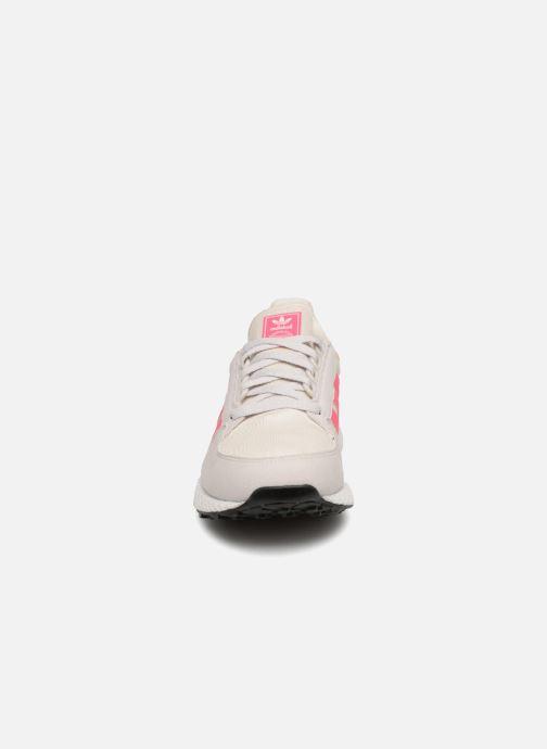 Sneaker adidas originals FOREST GROVE J weiß schuhe getragen