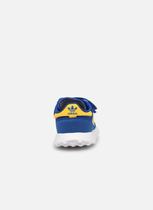 Deportivas adidas originals FOREST GROVE CF I Azul vista lateral derecha