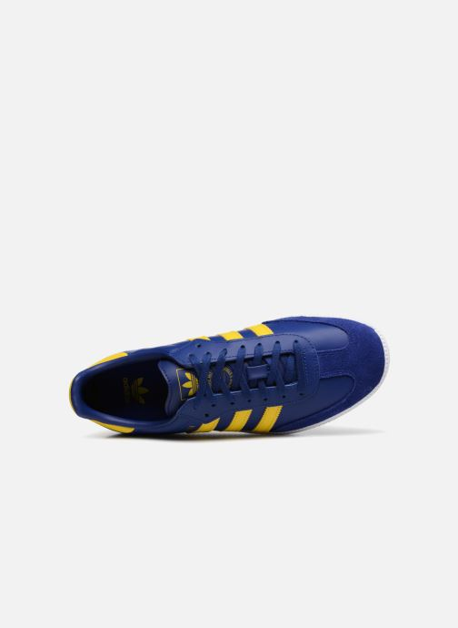 Baskets Adidas Originals SAMBA OG J Bleu vue gauche