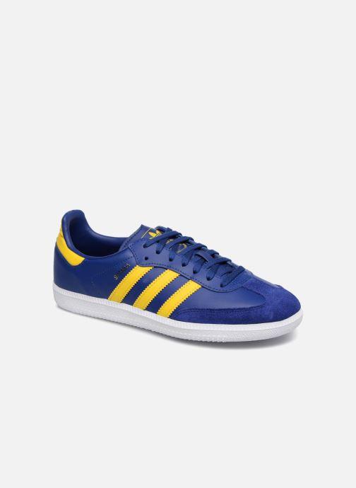 Baskets Adidas Originals SAMBA OG J Bleu vue détail/paire