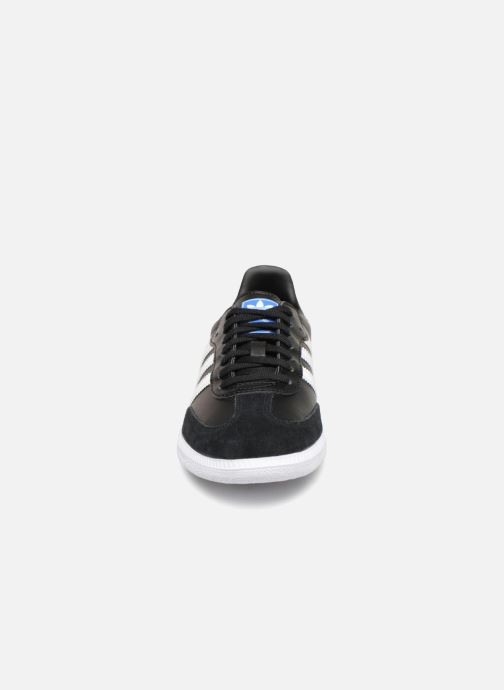 Baskets adidas originals SAMBA OG J Noir vue portées chaussures