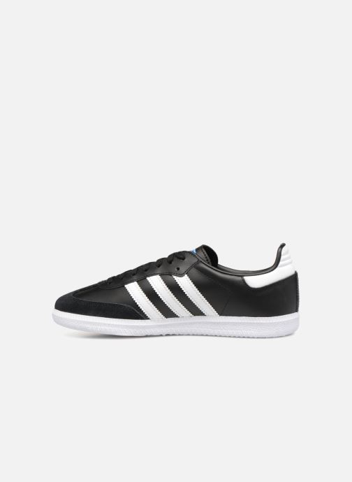 Baskets Adidas Originals SAMBA OG J Noir vue face