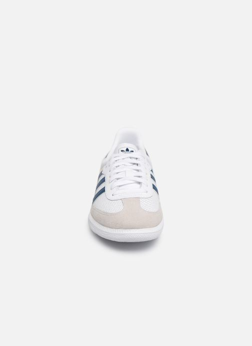 Baskets adidas originals SAMBA OG J Blanc vue portées chaussures
