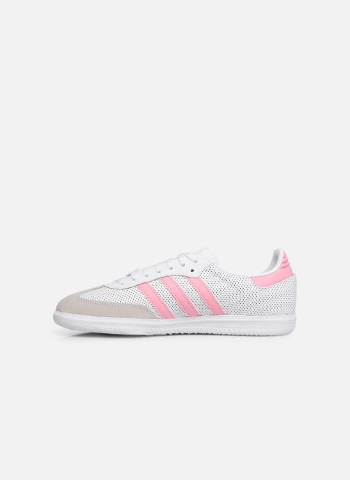 Baskets adidas originals SAMBA OG J Blanc vue face