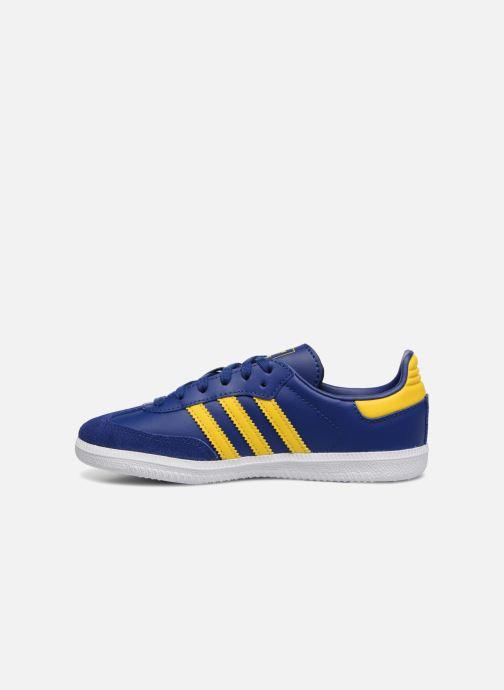 Baskets Adidas Originals SAMBA OG C Bleu vue face