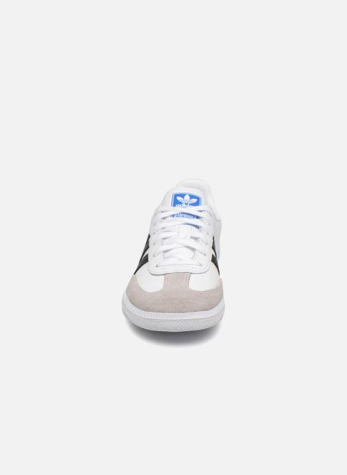 Baskets adidas originals SAMBA OG C Blanc vue portées chaussures