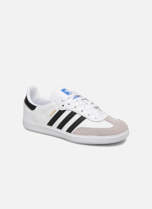 Baskets Adidas Originals SAMBA OG C Blanc vue détail/paire