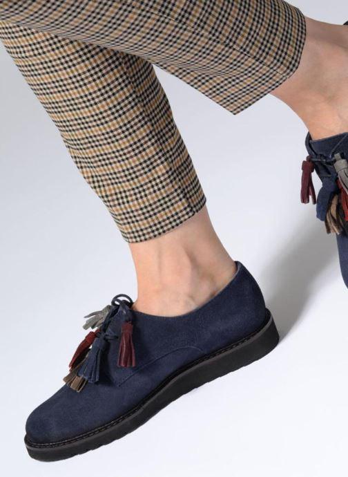 Chaussures à lacets PintoDiBlu 20467 Bleu vue bas / vue portée sac