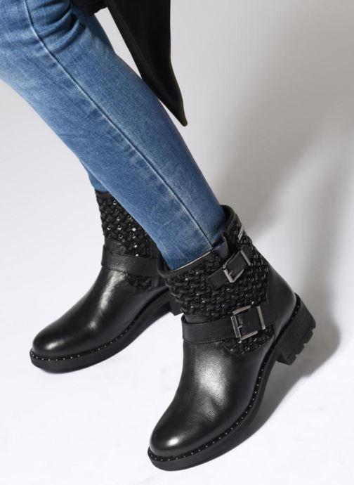 Bottines et boots Les Tropéziennes par M Belarbi LORALINE Noir vue bas / vue portée sac