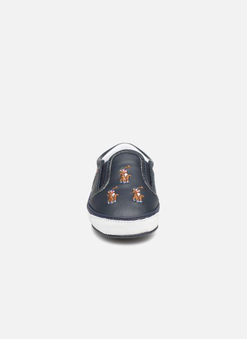 Chaussons Polo Ralph Lauren Bal Harbour Repeat Multi Pony Bleu vue portées chaussures