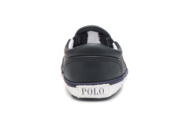 Chaussons Polo Ralph Lauren Bal Harbour Repeat Multi Pony Bleu vue droite