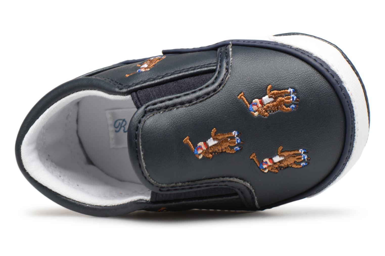 Chaussons Polo Ralph Lauren Bal Harbour Repeat Multi Pony Bleu vue gauche