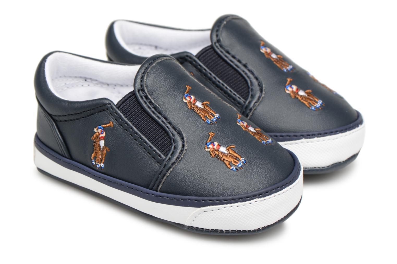 Chaussons Polo Ralph Lauren Bal Harbour Repeat Multi Pony Bleu vue détail/paire