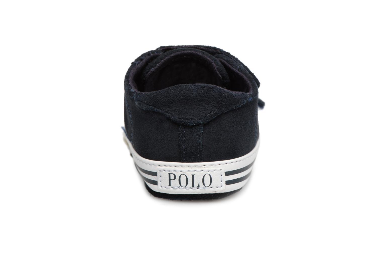 Chaussons Polo Ralph Lauren Easten EZ Layette Bleu vue droite