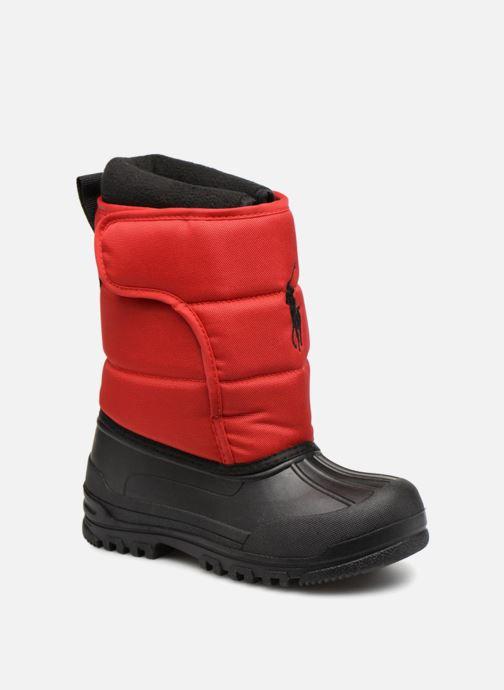 Chaussures de sport Polo Ralph Lauren Hamilten II EZ Rouge vue détail/paire