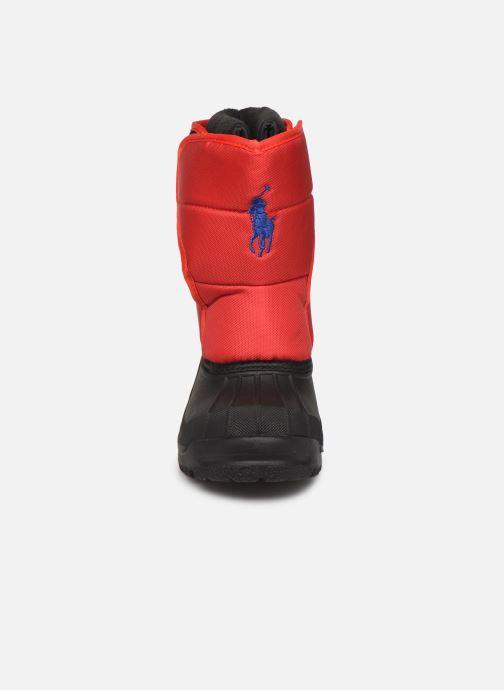Chaussures de sport Polo Ralph Lauren Hamilten II EZ Rouge vue portées chaussures