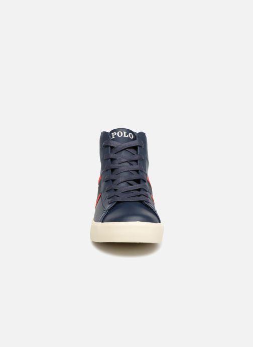 Baskets Polo Ralph Lauren Geoff Mid Bleu vue portées chaussures