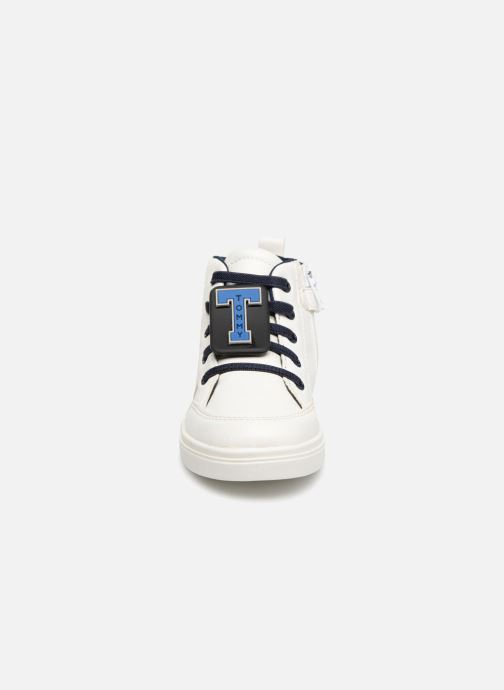 Baskets Tommy Hilfiger Tommy 30091 Blanc vue portées chaussures